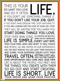 Do what you love...