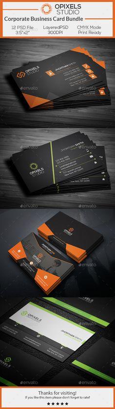 Corporate Business Card Bundle - Corporate Business Cards