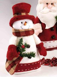 Pin by Monica Rey on Navidad Christmas Sewing, Felt Christmas, Country Christmas, Christmas Snowman, All Things Christmas, Christmas Time, Snowman Crafts, Christmas Projects, Christmas Crafts