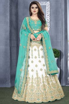 We offer latest and exclusive party wear and designer lehenga choli. Buy this art silk embroidered, lace and resham work lehenga choli. Bridal Lehenga Choli, Silk Lehenga, Chiffon Saree, Silk Sarees, Embroidered Clothes, Embroidered Silk, Salwar Kameez, Costumes Anarkali, Indian Skirt
