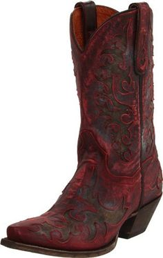 Love the old world look on these red boots - nice treat for Valentine's Day--hint hint Womens Cowgirl Boots, Cowboy And Cowgirl, Cowboy Boots, Cowgirl Chic, Western Wear, Western Boots, Country Girl Boots, Dan Post Boots, Black Cowboys