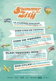 Ayuntamiento de Zaragoza. Noticias.'I Summer in the Zity' trae a Zaragoza la música negra del festival Slap! y la actuación de Bob Dylan