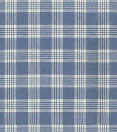 Home Decor 8''x 8'' Fabric Swatch-Upholstery-Waverly Pendant Plaid/Larkspur, , hi-res