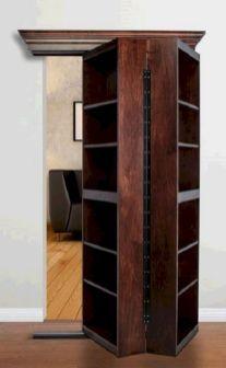 Maple Bifolding Bookcase Hidden Door - the murphy Door Decor, Home Diy, Storage, Home, Bookcase Door, Murphy Door, Bookcase, Hidden Rooms, Room Design