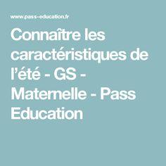 Connaître les caractéristiques de l'été - GS - Maternelle - Pass Education