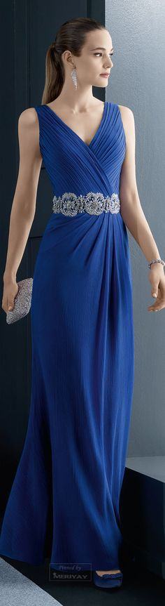 Rosa Clará 2015. sapphire blue bridesmaid | blue bridesmaid dress