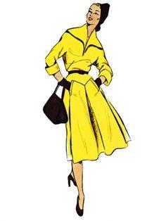 Vintage Dress (1951) - Kimono sleeves -sewing pattern to buy from burdastyle.de