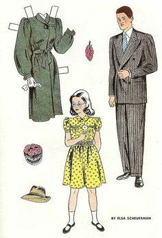 Jack And Jill April 1947 Carol Ann S Family Paper Doll House