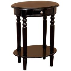 Add a traditional touch to your living room or bedside with this handsome end table, featuring 1 drawer and a lower shelf.     Product: