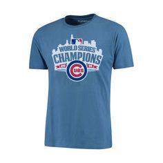 0ec79a41055 Chicago Cubs 2016 World Series Champions Light Blue Skyline Ballpark Tee   ChicagoCubs  Cubs