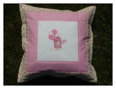 pillow - embroidered fairy