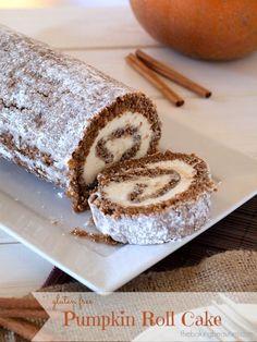 Gluten Free Pumpkin Roll Cake | The Baking Beauties