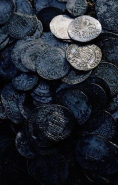 Ancient Coins from Shetland Islands Shipwreck Photographic Print by Bates Littlehales Photographic Print: Ancient Coins from Shetland Islands Shipwreck by Bates Littlehales : Olgierd Von Everec, Hawke Dragon Age, A Darker Shade Of Magic, Yennefer Of Vengerberg, Landsknecht, Black Sails, Six Of Crows, Pirate Life, Luna Lovegood