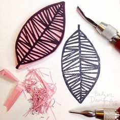 BalzerLeafStamp-wm --- Balzer Designs: Leaf Stamp Inspired by Clay Stamps, Stamp Printing, Printing On Fabric, Boli 3d, Homemade Stamps, Make Your Own Stamp, Stamp Carving, Fabric Stamping, Ideas Geniales