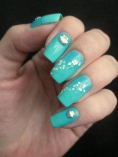 blue sea nails
