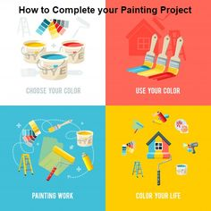 Are you worry about your painting Project? How to Done. Don't worry! Here you can get the clear instruction. 1. Choose your color 2. Properly use this color 3. Painting Work 4. Color your home #BestHandheldPaintSprayers   #besthvlppaintsprayer   #BestAirlessPaintSprayer   #PaintSprayers   #ColorPaint   #PaintGun Hvlp Paint Sprayer, Best Paint Sprayer, Free Vector Files, Vector Free, Pintura Vector, Stock Foto, Paint Colors For Home, Cool Paintings, Colorful Interiors