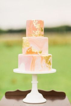 Chocolate Minimalist Caramel Frosting Wedding Cake