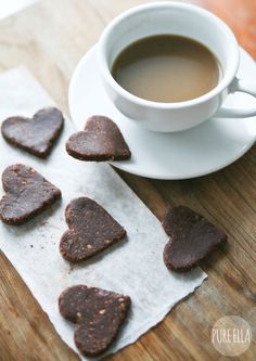 Raw Hazelnut Chocolate Hearts from Pure Ella #glutenfree #vegan