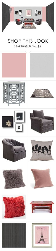 """""""Untitled #1720"""" by hedleyfaberdrive101 ❤ liked on Polyvore featuring interior, interiors, interior design, home, home decor, interior decorating, York Wallcoverings, Brian Yates, Safavieh and Dot & Bo"""
