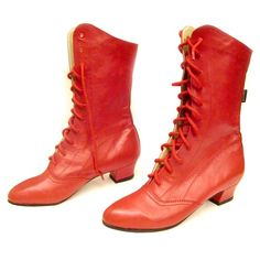 These boots are specifically designed for dancing; hand made using only the finest leather each stitch placed with dancing feet in mind, whether it be a bouncing Polka, an aristocratic Polonez or the traditional Krakowiak. Heeled Boots, Shoe Boots, Shoe Bag, Shoes, Red Boots, Lace Up Boots, Dance Boots, Oxford Boots, Vintage Outfits