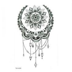 Dotwork Tattoo Mandala, Tattoo Henna, Hand Tattoo, Mandala Tattoo Design, Sunflower Mandala Tattoo, Mandala Art, Mandala Tattoos For Women, Leg Tattoos Women, Shoulder Tattoos For Women