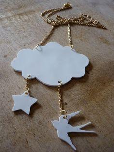 Douceurs et couleurs: Un nuage autour du cou