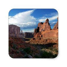Wall Street trail Arches National Park Square Sticker