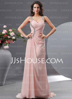 Evening Dresses - $144.49 - Sheath Sweetheart Sweep Train Chiffon Evening Dress With Ruffle Beading (017022730) http://jjshouse.com/Sheath-Sweetheart-Sweep-Train-Chiffon-Evening-Dress-With-Ruffle-Beading-017022730-g22730