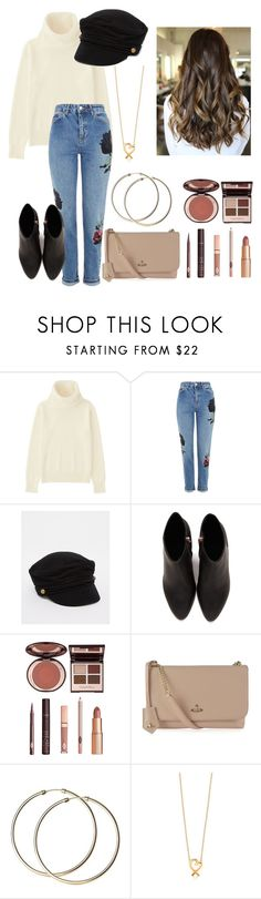 """""""Baker Boy"""" by derangedlife ❤ liked on Polyvore featuring Uniqlo, Topshop, ASOS, Alexander Wang, Charlotte Tilbury and Vivienne Westwood"""
