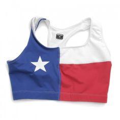 texan sports bra haha