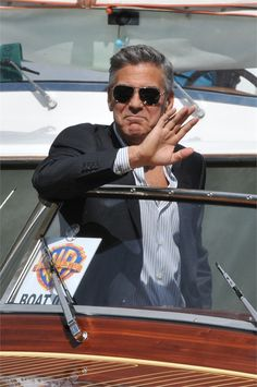 George Clooney in Venice at the debut of his new film Gravity