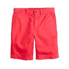 J.Crew - Boys' Stanton short in garment-dyed chino