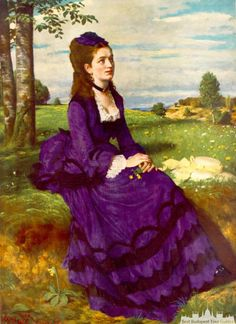Pál Szinyei Merse: Woman in Purple Dress