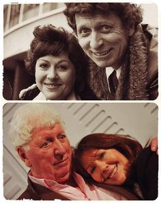 This is too precious :) Sarah Jane Smith and her Doctor, who will always be MY Dr Who, the great Tom Baker!