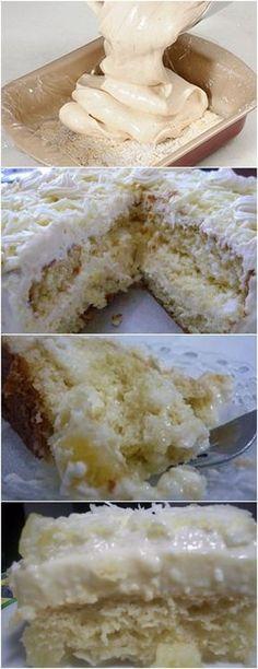ESSE BOLO É MARAVILHOSO….BOLO MARIA MOLE VEJA AQUI>>>Espalhe a cobertura por todo o bolo e leve à geladeira por no mínimo 3 horas #receita#bolo#torta#doce#sobremesa#aniversario#pudim#mousse#pave#Cheesecake#chocolate#confeitaria