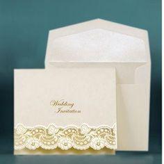 Laser Cut Wedding Invitations UK - Vintage Lace - WeddingSoon