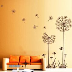 Dandelion Flowers 40inch H----art Graphic Vinyl wall decals stickers home decor. $29.99, via Etsy.