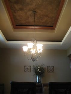 Dining Room Tray Ceiling - Italian Venetian Plaster - Bella Faux Finishes traditional dining room