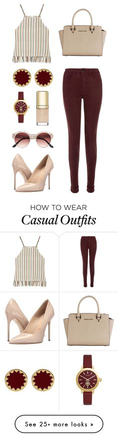 """""""#42 Casually Lovely"""" by jocelynleebold on Polyvore featuring Miguelina, J Brand, Massimo Matteo, Michael Kors, House of Harlow 1960, Tory Burch, Dolce&Gabbana and River Island"""