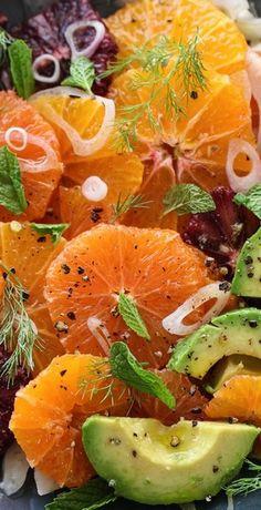 Citrus Fennel and Avocado Salad - foodiecrush