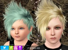 My Sims 3 Blog: Newsea Bad Kid Hair for Males & Females