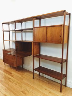 Mid-Century Teak Wall Unit —