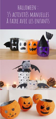 Halloween: 10 costumes for children to make yourself - Halloween: 35 ideas of manual and DIY activities to do with children! Halloween Tags, Halloween 2018, Halloween Crafts For Kids, Diy Halloween Decorations, Halloween Party, Halloween Backgrounds, Kids Cards, Christmas Diy, Diy Crafts