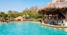 Take a swim to the pool bar at #Hilton Papagayo Costa Rica Resort & Spa in Guanacaste, Costa Rica.