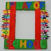 First Day Of School Picture Frame Using Foam Board And