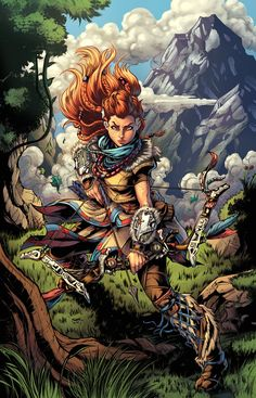 Horizon Zero Dawn: Aloy pinup Clrs by CdubbArt.deviantart.com on @DeviantArt - More at https://pinterest.com/supergirlsart/