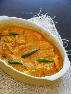Bengali Steamed Prawn In Mustard Sauce OR Bhapa Sorshe Chingri