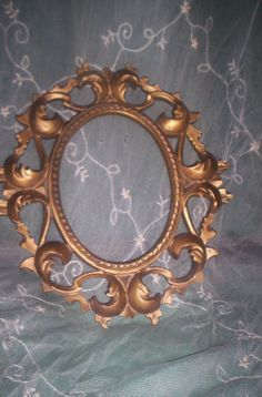 Vtg Ornate Gold SYROCO Style Photo Picture by treasuretrovemarket, $20.00