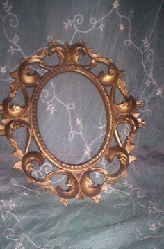 Vtg Ornate Gold SYROCO Style Photo Picture by treasuretrovemarket, $20.00