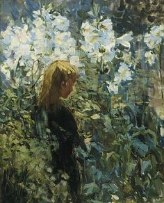 """Helen Galloway McNicoll. """"Easter Lilies"""""""